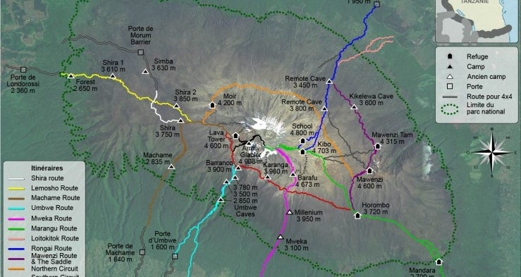Mount_Kilimanjaro_Climbing_Routes_and_Huts_photomap-fr